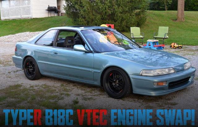 インテグラ・タイプR流用B18Cエンジン・ミッション・LSD移植!2代目アキュラ・インテグラのアメリカ中古車を掲載