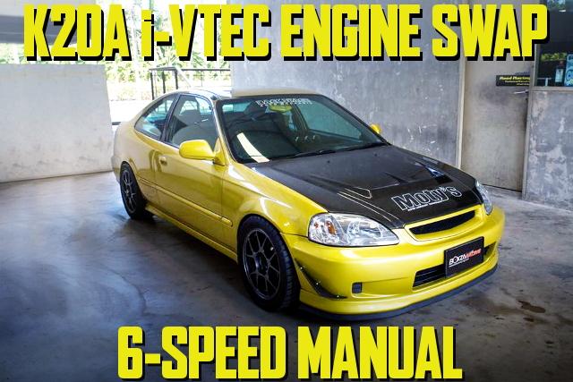 K20A型i-VTECエンジン6速マニュアル仕上げ!HONDATA制御!2代目シビッククーペのタイ中古車を掲載