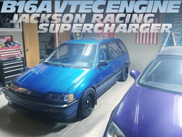 B16A型VTECエンジンスワップ!スーパーチャージャー取り付け!EF系シビック・シャトルのアメリカ中古車を掲載