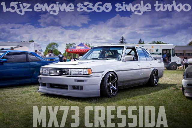 1.5Jエンジン!S360シングルタービン仕上げ!Vマウントインタークーラー!ドリフト仕様MX73型クレシーダのアメリカ中古車を掲載
