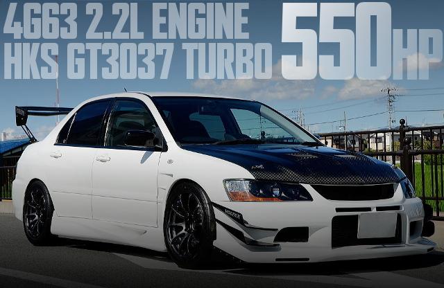 550馬力!4G63改2.2LエンジンGT3037タービン金プロ制御!CT9A型ランサーGSRエボリューション8MRの国内中古車を掲載