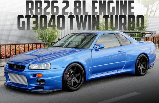トップシークレット製作!RB26改2.8Lエンジン!GT3040ツインターボ金プロ制御!BNR34日産スカイラインGT-Rの国内中古車を掲載