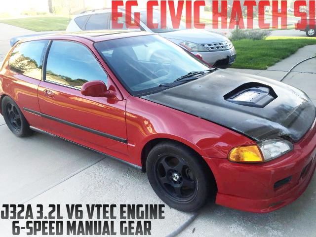 3.2リッターV6モデル!J32A型VTECエンジン移植!6速マニュアル組み合わせ!EG型シビックSiのアメリカ中古車を掲載