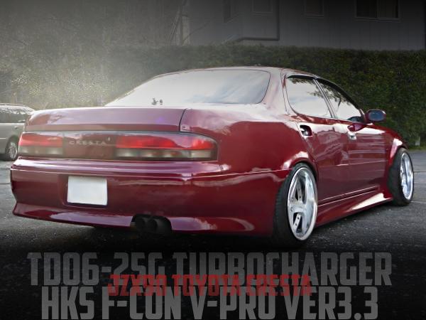 TD06-25GフルタービンHKS金プロVer3.3制御!ワイドボディ仕上げ!JZX90型クレスタ・ツアラーVの国内中古車を掲載