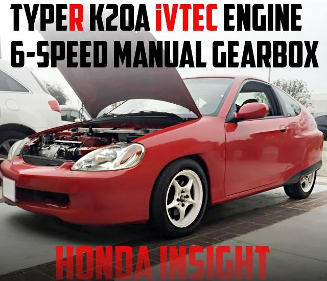 JDMタイプR流用K20A型i-VTECエンジン・6速MT・LSD移植!ZE1初代ホンダ・インサイトのアメリカ中古車を掲載