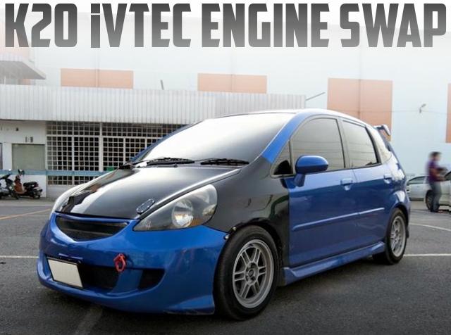 K20系iVTECエンジン換装ATシフト仕上げ!GD型ジャズ(ホンダ・フィット)のタイ中古車を掲載