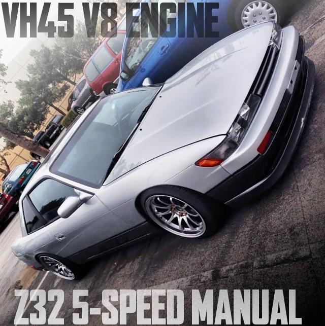 VH45型4.5リッターV8エンジン移植!Z32用5速MT組み合わせ!シルビア顔!S13系240SXのアメリカ中古車を掲載