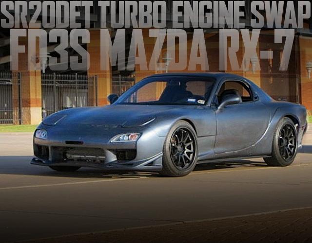 日産SR20ターボエンジン移植5速MT仕上げ!Vマウントインタークーラー!FD3S型マツダRX-7のアメリカ中古車を掲載
