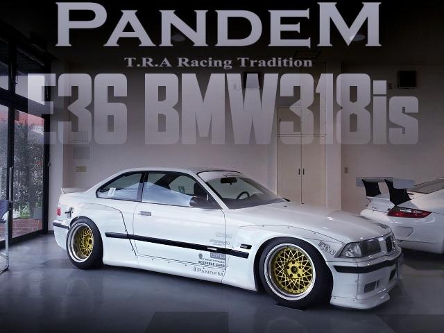 TRA京都!PANDEMワイドボディKIT装着!E36型BMW 318isの国内中古車を掲載