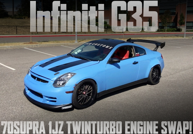 70スープラ流用1JZ-GTEツインターボエンジン移植!R154型5速MT!V35型インフィニティG35クーペのアメリカ中古車を掲載