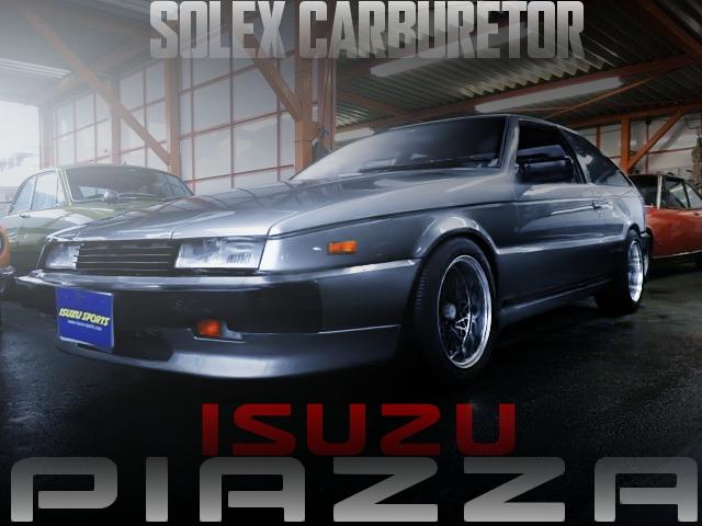 G200型エンジン改ソレックスキャブ公認!ISUZU初代ピアッツァの国内中古車を掲載