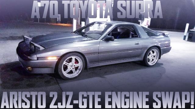 500馬力以上!JDMアリスト用2JZ-GTEエンジン移植!S366タービン装着!A70型トヨタ・スープラのアメリカ中古車を掲載