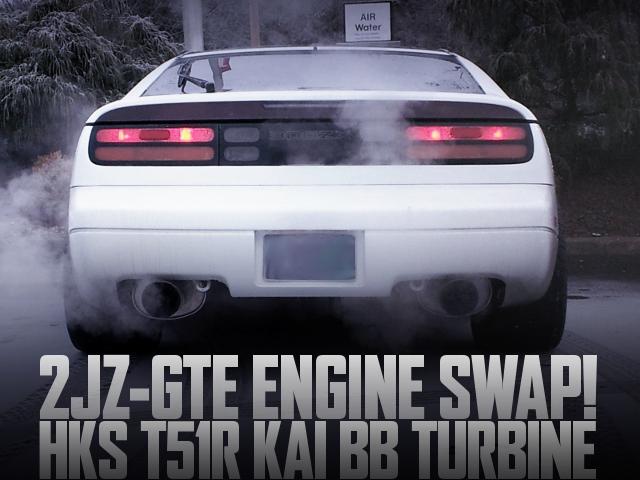 HKS製T51Rタービン装着2JZエンジン換装NOS取り付け!750馬力!Z32日産300ZX(フェアレディZ)のアメリカ中古車を掲載