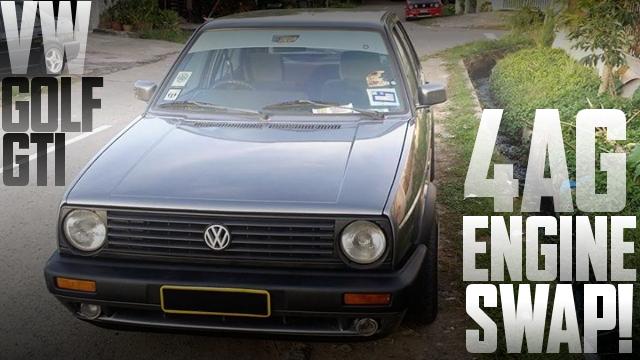 4AGエンジン横置きスワップATシフト仕上げ!2代目VWゴルフGTIのマレーシア中古車を掲載