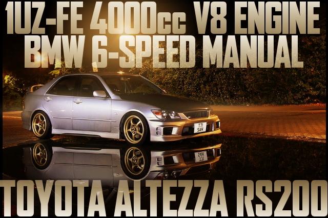 1UZ-FE型4リッターV8エンジン移植!BMW1シリーズ用6速MT組み合わせ!アルテッツァRS200のイギリス中古車を掲載