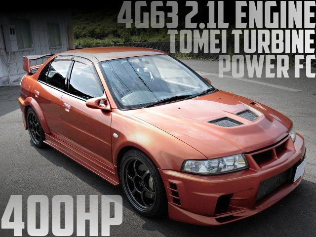 400馬力!4G63改2.1Lエンジン東名タービン!CP9A三菱ランサーGSRエボリューションVIの国内中古車を掲載