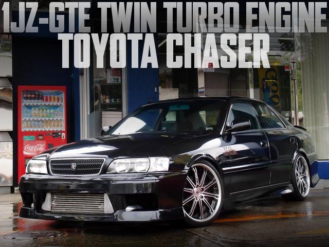 1JZ-GTEツインターボエンジン移植5速MT仕上げ!X100系トヨタ・チェイサーの国内中古車を掲載