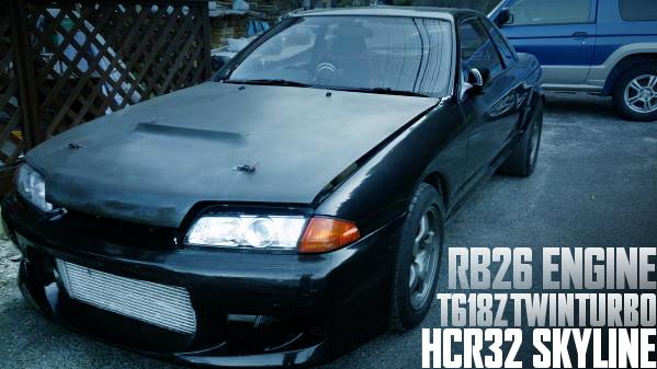RB26エンジン改T618Zツインターボ!パワーFCエアフロレス制御!HCR32型スカイラインGTS-tタイプMの国内中古車を掲載