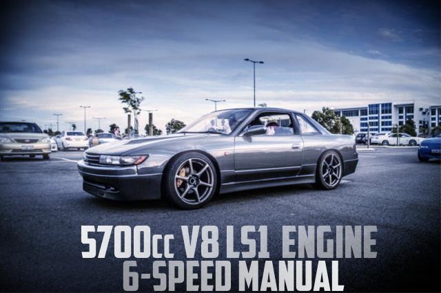 5700cc V8!LS1エンジン6速MTスワップ!!S13日産シルビアのオーストラリア中古車を掲載