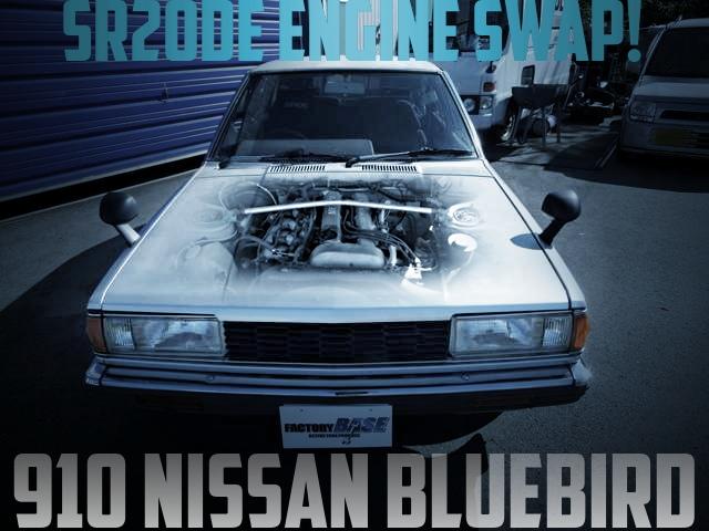 SR20DEエンジンスワップ5速マニュアル公認!6代目910日産ブルーバード4ドアの国内中古車を掲載