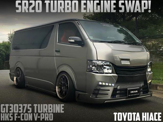 日産SR20エンジンスワップ!GT3037SタービンVプロ制御!5代目トヨタ・ハイエースDXの国内中古車を掲載