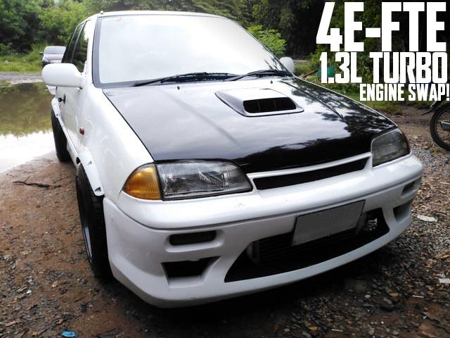 4E-FTE型1.3Lターボエンジンスワップ!スイフトセダン(2代目カルタス)のタイ中古車を掲載