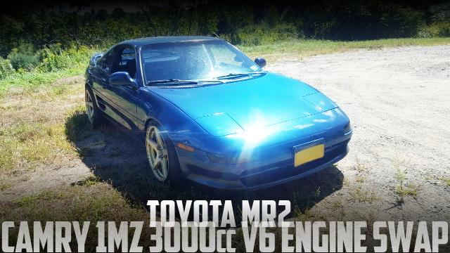 カムリ用1MZ-FE型3リッターV6エンジンスワップ5速マニュアル仕上げ!SW20型トヨタMR2のアメリカ中古車を掲載
