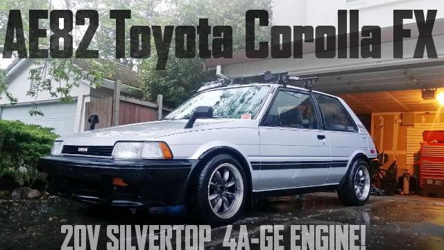 銀ヘッド5バルブ4AGエンジン移植!AE82初代カローラFXのアメリカ中古車を掲載