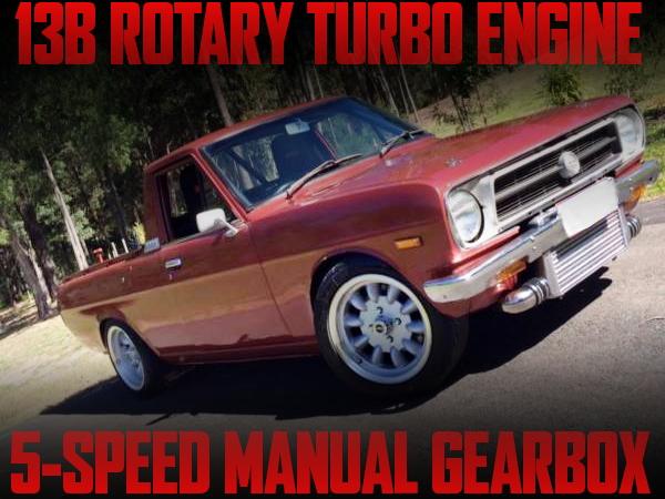 13B-T型2ロータリーターボエンジン換装!マイクロテックフルコン制御!サニートラック(ダットサン1200UTE)のオーストラリア中古車を掲載