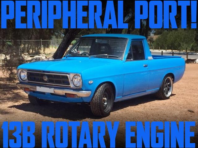 ペリ仕様13Bロータリーエンジン移植!ダットサン1200UTE(サニートラック)のオーストラリア中古車を掲載