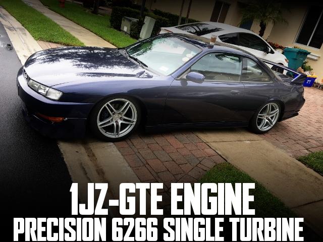 チェイサー流用1JZエンジン6266ターボチャージャー!R33キャリパー!S14後期240SXのアメリカ中古車を掲載