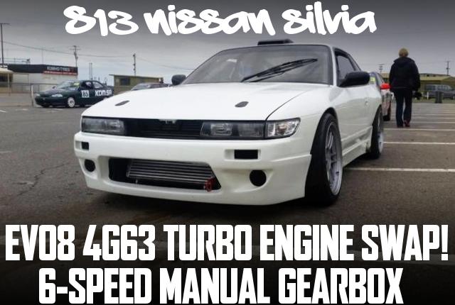 三菱EVO8用4G63エンジン縦置き搭載!EVO9タービン!6速マニュアル仕上げ!S13日産シルビアのオーストラリア中古車を掲載