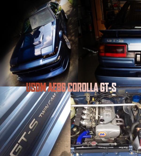 AE101用5バルブ4AGエンジン!パワステエアコン付!北米AE86カローラGT-Sの国内中古車を掲載