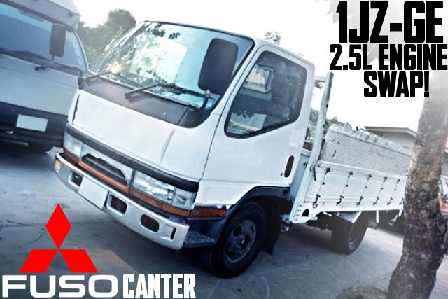 トヨタ用1JZ-GE型2500ccエンジン搭載フロアATシフト!6代目三菱ふそうキャンターのタイ中古車を掲載