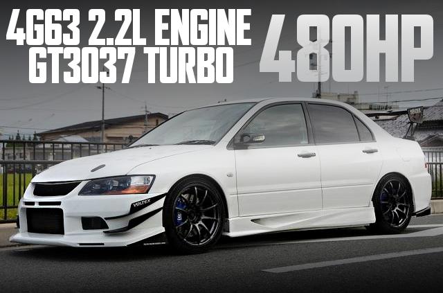 480馬力!4G63改2.2LエンジンGT3037タービン金プロ制御!三菱ランサーRSエボリューションVIIIの国内中古車を掲載