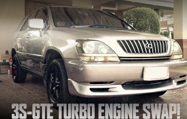 3S-GTE型2LターボエンジンスワップATシフト仕上げ!レクサスRX仕上げ!初代トヨタ・ハリアーのタイ中古車を掲載