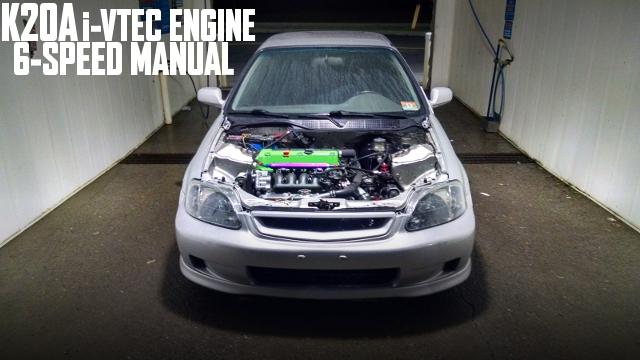 RSXタイプS用K20A型i-VTECエンジン6速MT仕上げ!EK型シビック3ドアハッチのアメリカ中古車を掲載