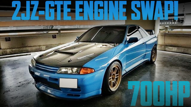 700馬力!2JZエンジン改ビッグシングルタービン!R32日産スカイライン2ドアのタイ中古車を掲載
