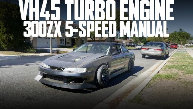 VH45改4.5Lターボエンジン!300ZX用5速MT組み合わせ!NX社NOS装着!S14日産240SXのアメリカ中古車を掲載