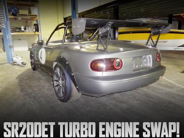 日産SR20ターボエンジン換装GTX2867タービン!ハルテックフルコン制御!ミアータMX5(NA系マツダ・ロードスター)のアメリカ中古車を掲載