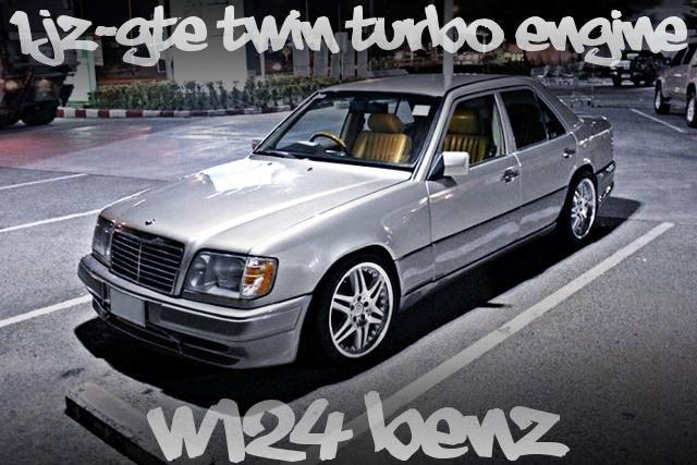 1JZツインターボエンジン換装ATシフト仕上げ!W124型メルセデス・ベンツEクラスのタイ中古車を掲載