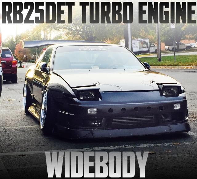 RB25DETターボエンジンスワップ!ブリスターワイドボディ!S13日産240SXのアメリカ中古車を掲載