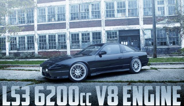 LS3型6.2リッターV8エンジン6速MT仕上げ!ウィルウッドブレーキ!S13日産240SXのアメリカ中古車を掲載