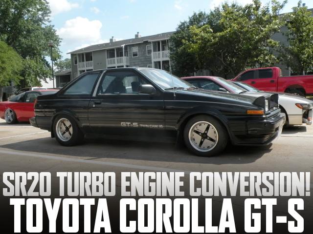 S13用SR20ターボエンジンスワップ!USDM!AE86型カローラGT-Sのアメリカ中古車を掲載