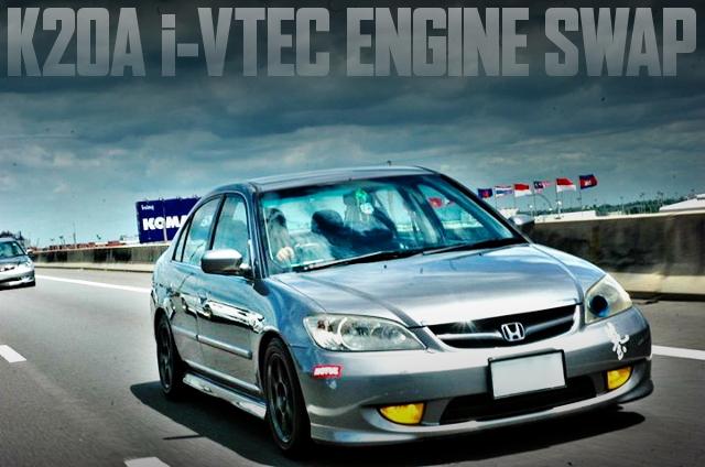 K20A型i-VTECエンジンスワップ!ES型シビックフェリオのタイ中古車を掲載
