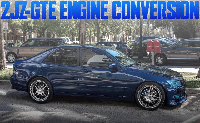2JZ-GTEエンジン移植シングルビッグタービン!レクサスIS200のアメリカ中古車を掲載
