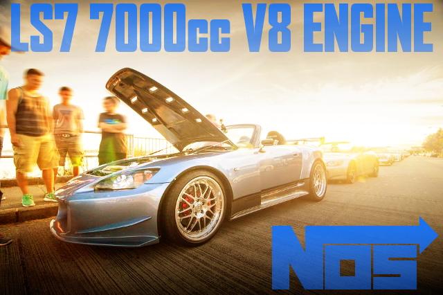 LS7型7リッターV8エンジン(ドライサンプ)6速マニュアル!NOS装着!ワイドボディ!AP2型ホンダS2000のアメリカ中古車を掲載