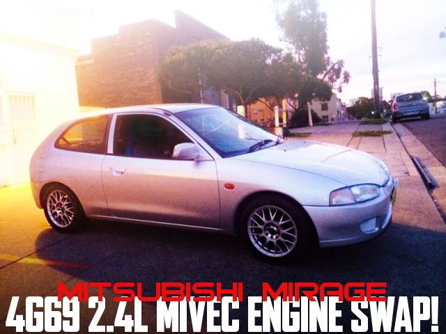 MIVEC!4G69型2400ccエンジンスワップ!5代目三菱ミラージュ3ドアのオーストラリア中古車を掲載