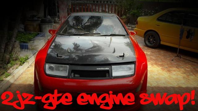 2JZ-GTEエンジンATシフト仕上げ!ビッグシングルタービン化!Z32日産300ZX(フェアレディZ)のタイ中古車を掲載