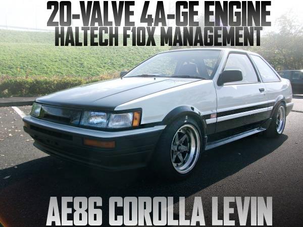 AE111用20バルブ4A-GEエンジン換装!ハルテックF10X制御!AE86型カローラレビンGTアペックスの国内中古車を掲載
